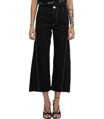 lanvin black twisted jeans
