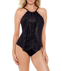 women's magicsuit gold leaf jlil one-piece swimsuit