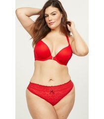 lane bryant women's stretch lace thong panty 12 cherry