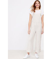 loft lou & grey gingham linen overalls