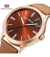 reloj para hombre/correa de piel/ mini focus / 0058g / reloj para