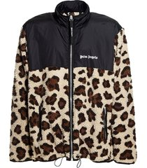 fleece leopard jacket