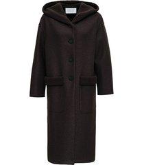 long coat in bouclé