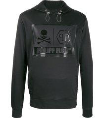 philipp plein statement hoodie - black