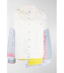 natasha zinko patchwork single breasted coat