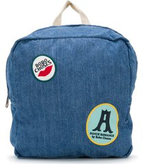 bobo choses patched denim backpack - blue