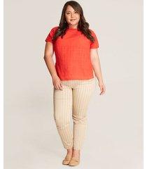 pantalon mujer tobillero rayas