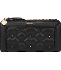 billetera organizer clare nine west para mujer negro