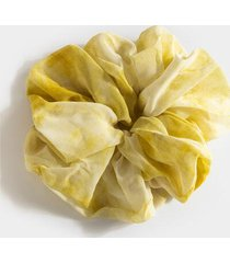 luna xl tie dye scrunchie in yellow - yellow