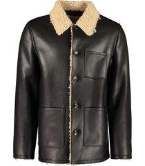 stand studio travis faux sheepskin jacket