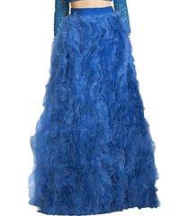 posey ruffled silk maxi skirt