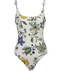 tory burch printed clip tank suit