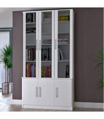 estante para livros 6 portas 12801282 branco - foscarini