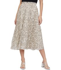 lucy paris snake-print cossette pleated maxi skirt
