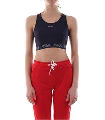 fila 687158 women moa top and body longwear women black iris