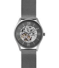 skagen men's automatic holst gunmetal stainless steel mesh bracelet watch 42mm