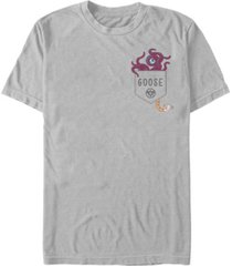 fifth sun marvel men's captain goose logo tentacle pocket short sleeve t-shirt
