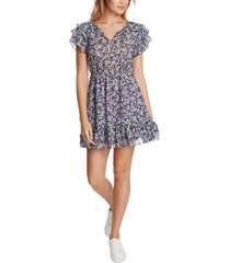 1.state floral-print ruffled dress