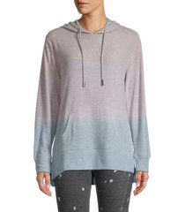 vintage havana women's colored hoodie - heather grey multi - size s