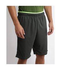 bermuda masculina esportiva ace com bolso verde escuro
