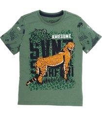 camiseta manga corta verde  offcorss