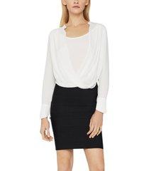 bcbgmaxazria drape-front blouse