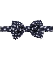 lady anne diamond-jacquard bow tie - blue