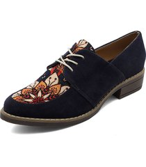 zapato casual azul por lona