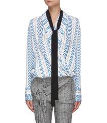 cowles' draped collar necktie blouse