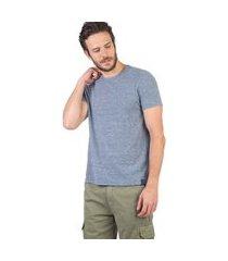 t-shirt básica mescla botonê azul marinho azul marinho/g