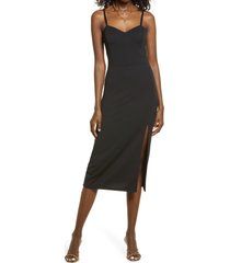 open edit knit corset dress, size xx-large in black at nordstrom