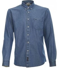 camisa denim azul  mcgregor