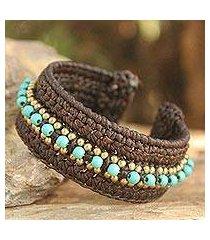 calcite cuff bracelet, 'thai supreme' (thailand)