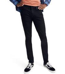 men's madewell skinny authentic flex jeans, size 28 x 30 - black