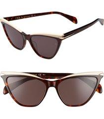 rag & bone 55mm cat eye sunglasses in dark havana at nordstrom