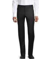 canali men's flannel wool trousers - black - size 54 (38) r