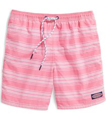 vineyard vines island chappy swim trunks, size x-large in pink cloud at nordstrom
