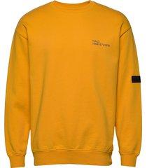 halo cotton crew sweat sweat-shirt trui geel halo