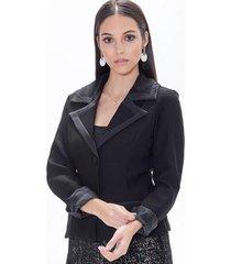 blazer alfaiataria com botões kadoche feminino