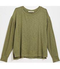 loft smocked sleeve sweatshirt