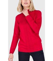 sweater ash liso rojo - calce ajustado