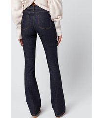 victoria, victoria beckham women's miami flare jeans - indigo blue - w27