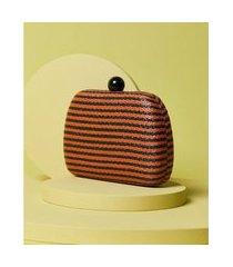 clutch de palha - clutch aspen cor: laranja - tamanho: único