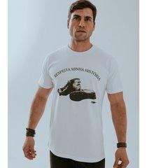 camiseta fide respeita minha história branca