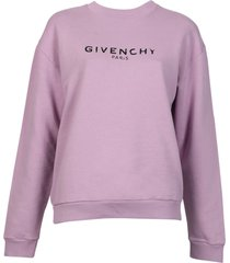 distressed purple sweatshirt