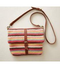 sundance catalog women's good hope crossbody bag in mlt/stripe