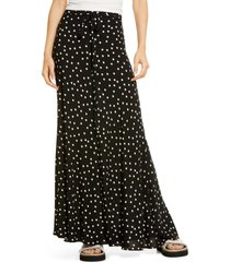 women's free people that's a wrap print maxi skirt, size x-small - black