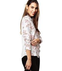 blusa camisera combinada con vivo en almilla
