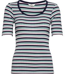5x5 stripe taura t-shirts & tops short-sleeved blå mads nørgaard