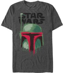 star wars men's classic boba fett painted helmet short sleeve t-shirt
